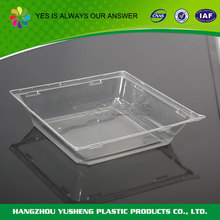 Plastic food packing cake tray