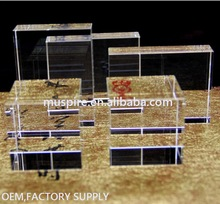 Super September Direct Factory any design 3D building Laser Engraving crystal Block cube
