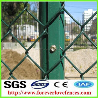 wholesale cheap steel used portab chain link decorative garden fencing