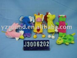 delicate plush cock,elephant,giraffe,turtle hand puppet