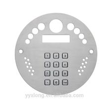 Professional fire alarm control panel video door phone with door keypad cusotmized keypad