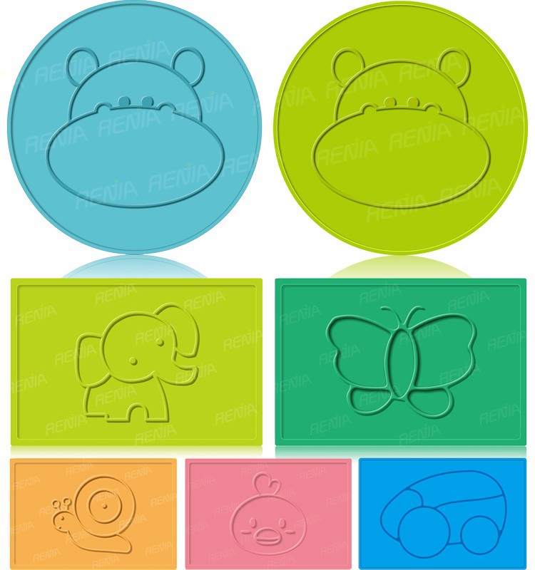 RENJIA custom silicone table mat custom placemats and coasters custom printed placemats