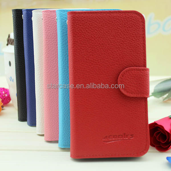 Small MOQ Leather Flip Case for Sony Xperia Z1 Compact / D5503