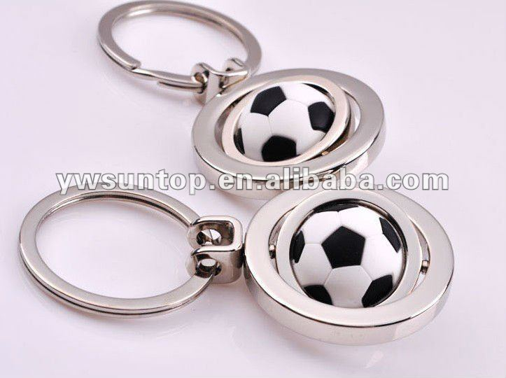 Novel promotion football design metal keychain wedding gifts