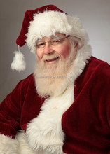 Professional Santa Beard and Santa Wig Set with handtie moustach and eyebrows