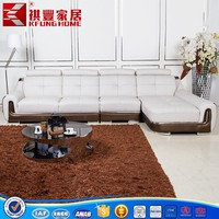 China Modern Design Cum Corner Luxury Leather Sofa