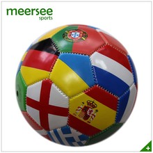 Mini size 2 Machine Sewn Promotional country flag soccer ball