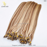 2015 Best Selling New Trend 100% Italian Keratin indian temple flat tip hair