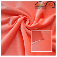 high quality 100% polyester warp-knitted glossy micro velvet fabric