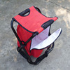 portable fishing stool cooler bag with metal shelf folding for picnic JF-21-35