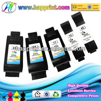 China ink cartridge factory manufacturer wholesale for hp ink cartridges C6578D 51645A C6615A printer cartridge for hp 78 45 15