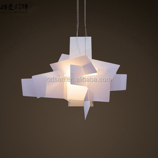 Acrylic commercial led pendant hanging lighting