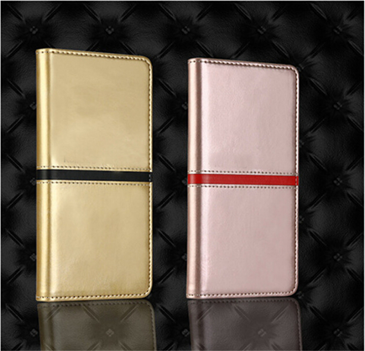 Book Leather Folio Mobile Phone Case Cover Flip Wallet Case Pouch Card Holder Stand for iphone 5s
