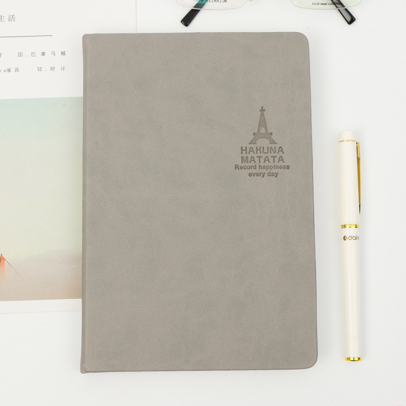 Cheap Custom Logo PU Leather Notebook