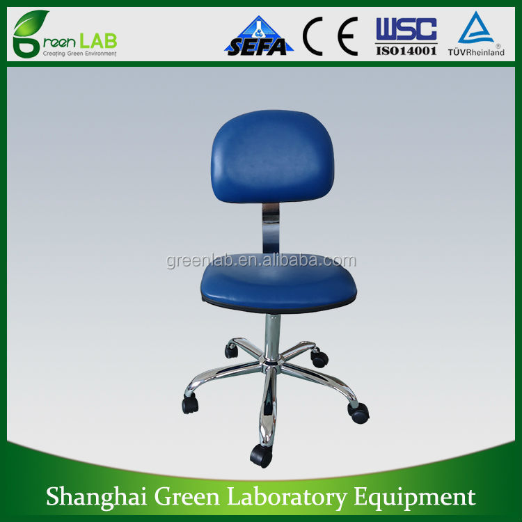 HOT SALE ! ! ! GREENLAB ESD swivel chair,folded chair with arm rest,PU lab chair