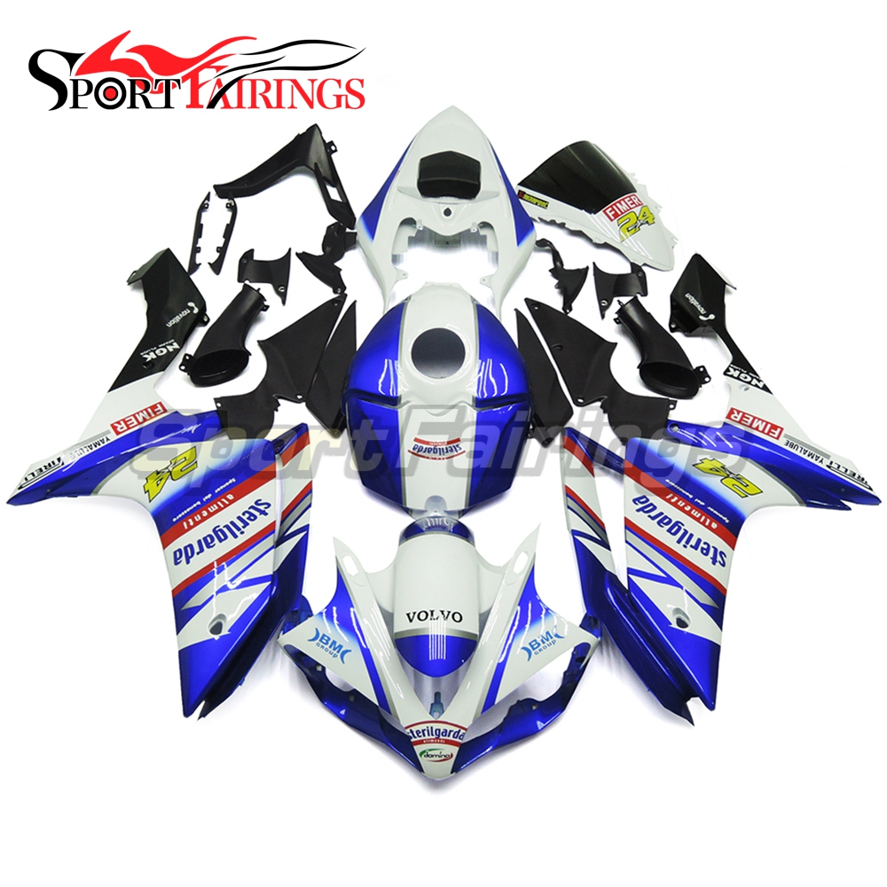 Sterilgarda 24 Blue Full Injection <strong>Fairings</strong> For Yamaha YZF <strong>R1</strong> 07 <strong>08</strong> ABS Plastic Injection Motorcycle Kit