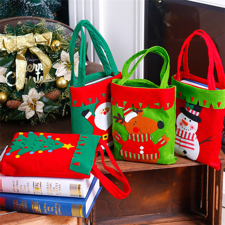 Fashionable handbag shopping bag for Christmas theme