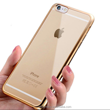 for iphone 7 plus For iphone 5s electroplate frame SLIM TPU Protective Shell soft Case Cover