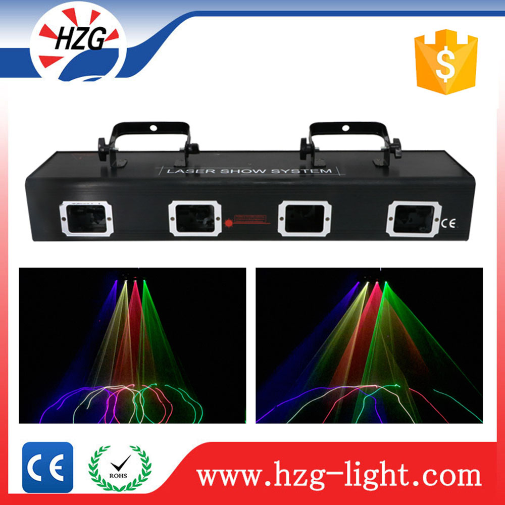 DMX controller mini Red Green Blue Yellow colorful four heads dj laser light