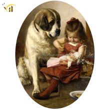 Factory supply dog and girl 5d diy painting full drill diamond painting
