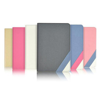 2014 Classic contrast color steel wire leather case for ipad mini 1 mini 2