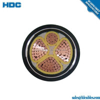 IEC 60502 Copper Conductor XLPE Insulated PVC Sheath Underground Cable Types of Underground Cable