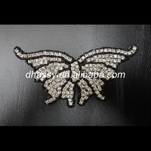Wholesale Butterfly Shape Rhinestone Applique For Bridal Sash DH-386