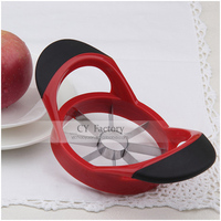 CY Top Sale Fruit Shape Cutter-Apple Cutter,Soft Rip Inserts Made From TPR (Red)