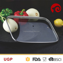 Cheap rectangle-shaped tempered glass lid chafing dish