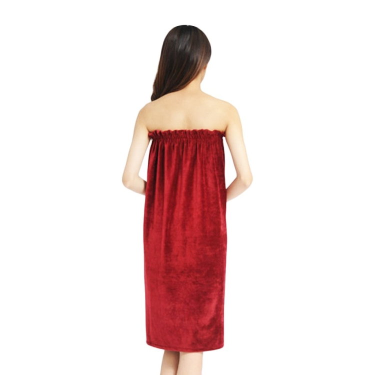 Factory wholesale comfortable water absorb quick dry microfiber women bath shower spa terry towel wrap dress