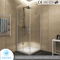 Popular 8mm glass sliding door portable toilet and shower room cabin made in China