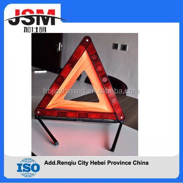 reflective warning triangle,safety reflector warning triangle,car emergency tool kit