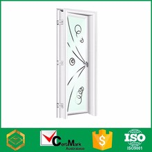 Swing White Frost Cheap Bathroom Door With Glass Factory