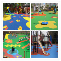 Synthetic Outdoor Playground Flooring, Kids Outdoor Playground -FN-D-15011310