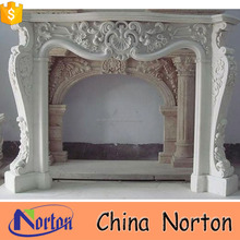 indian stone carved whtie electric fireplace no heat for sale NTMF-F536X