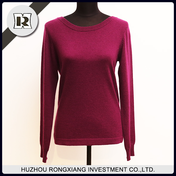 Women's cashmere round neck pullover Sweaters