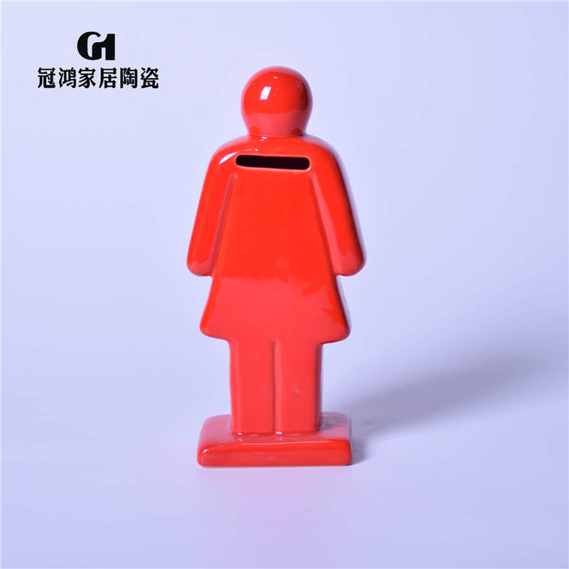 Ceramic women Piggy Bank,chinese coin bank,Ceramic money saving box,Hot Sales