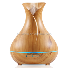 300ml Wooden Grain Ultrasonic Aroma diffuser with 7 LED changing color for aromatherapy