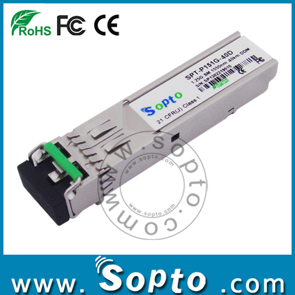 gig SFP 1550 40KM LC Connector Transmitter and Receiver