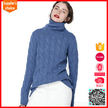 New design customized cabel woolen sweater designs for ladies