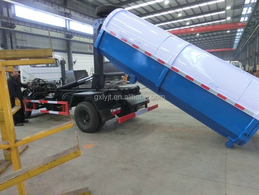 DongFeng Detachable Carriage Garbage Truck 3 ton loading capacity