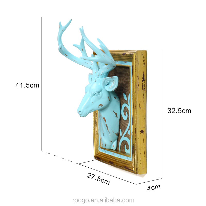 3D Resin deer wall art decor animal head wall decoration