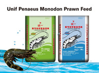 Unif Aquatic Fish Feed, P.Monodon Shrimp/Prawn Sinking Pellet Feed, 20kg, P803(1.8-1.9mm)