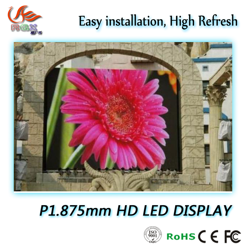 RGX pantallas led china,Full color LED Big Screen with Video function P1.875mm LED Display Outdoor
