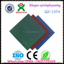 Guangzhou factory price used playground rubber mats rubber floor tiles for outdoor playground QX-137A