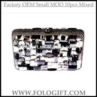 YYPDZJ118 Silver Glass Diamante evening clutch bag lady party purse wallet factory cheap price