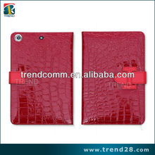 Crocodile skin wallet leather case for ipad mini