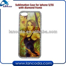 sublimation bling cover case for iphone5/5s