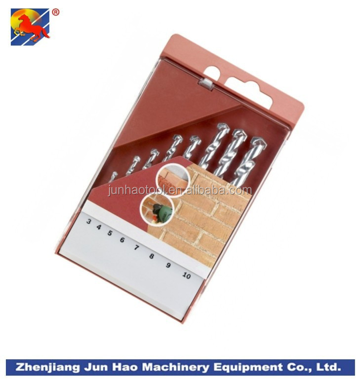 Flat Plastic Cassette Packaging 8 Piece Masonry Drill Bit Set