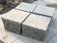 G341 grey granite cubes pavers sides part cut